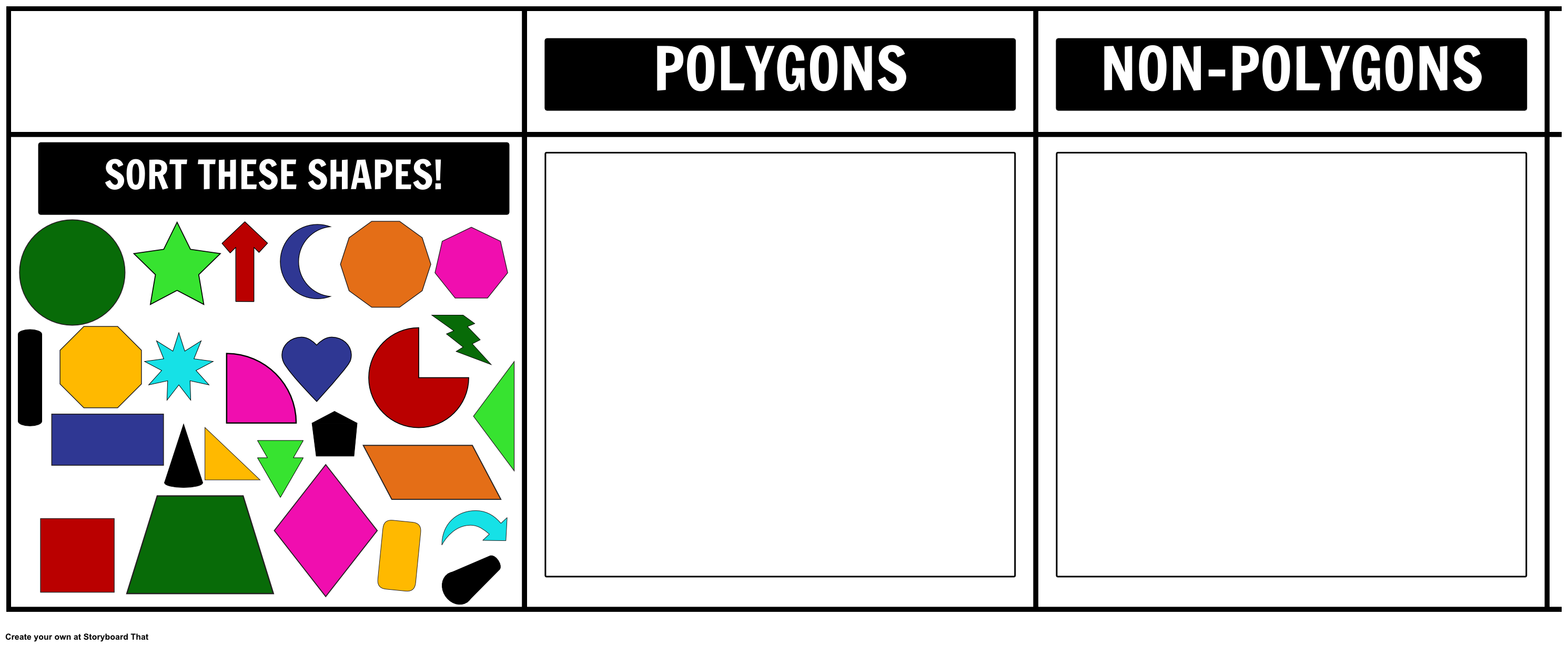 With This Activity Your Students Can Sort The Shapes Provided And Put Them Under The Polygon Or