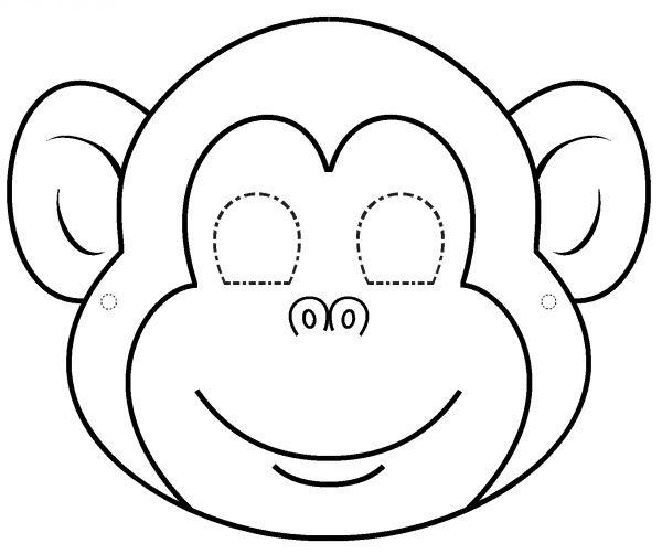 masque de singe a colorier … | Pinteres…
