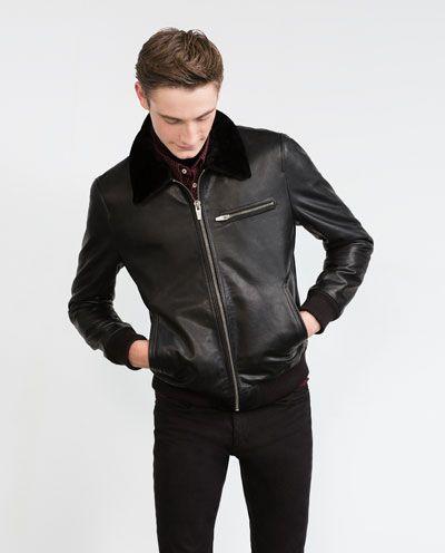 Lederjacke Jacke Herren Zara