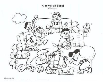 Desenhos Para Colorir Antigo Testamento Torre De Babel