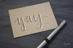 Too intimidated to learn pointed pen calligraphy? This cheater's tutorial will help you fake it 'til you can make it.