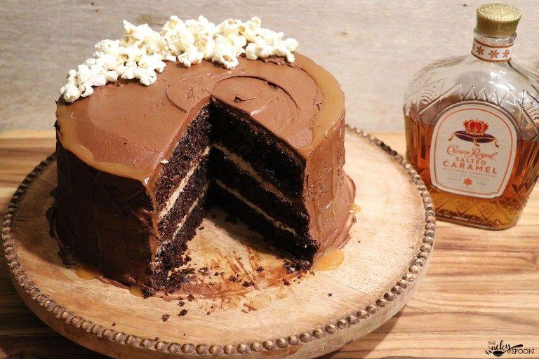 Chocolate layered caramel whiskey cake recipe whiskey