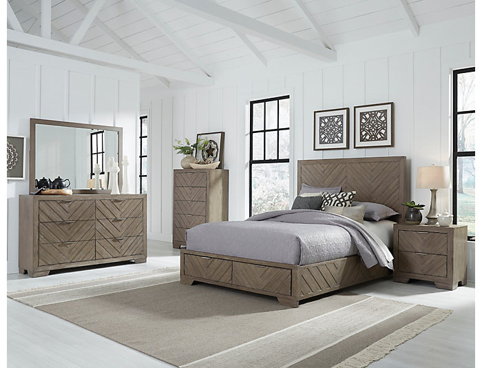 Rio King Bedroom Set Art Van in 2020 Platform bedroom