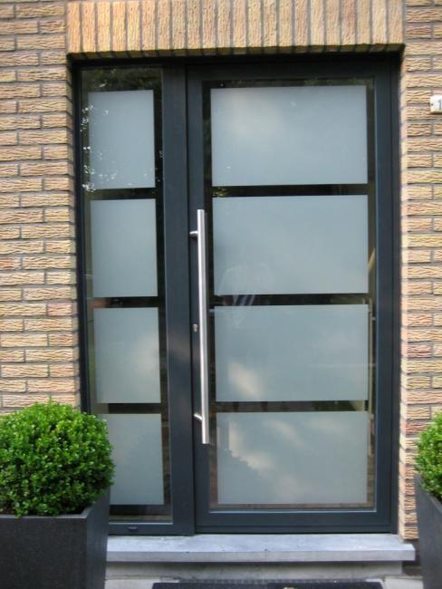aluminium voordeur met glas - Google zoeken ramen\/deuren - folie für badezimmerfenster