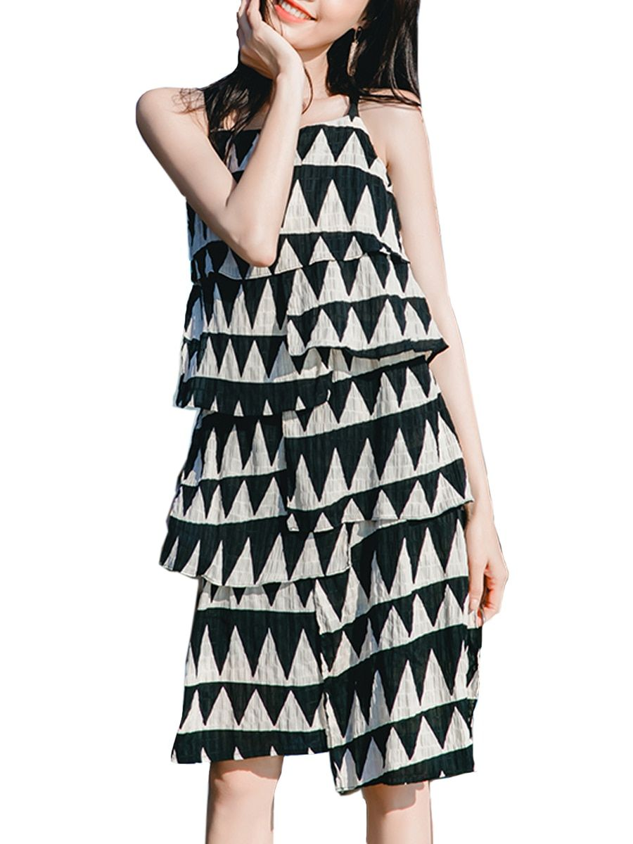 Buy Women s Slip Dress Stylish Colorblock Midi Dress   Regular Dresses - at Jolly  Chic e85ad3ca9