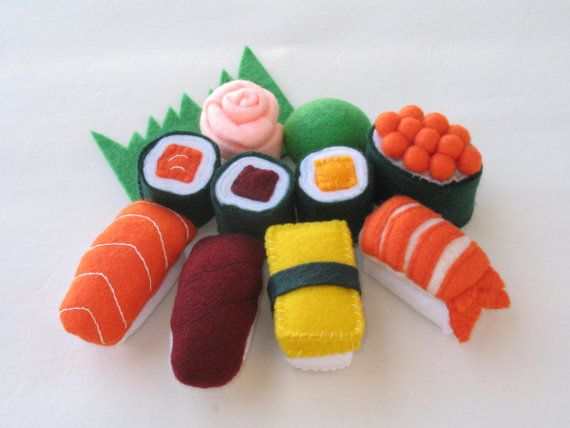 Pretend Felt Food Sushi Set