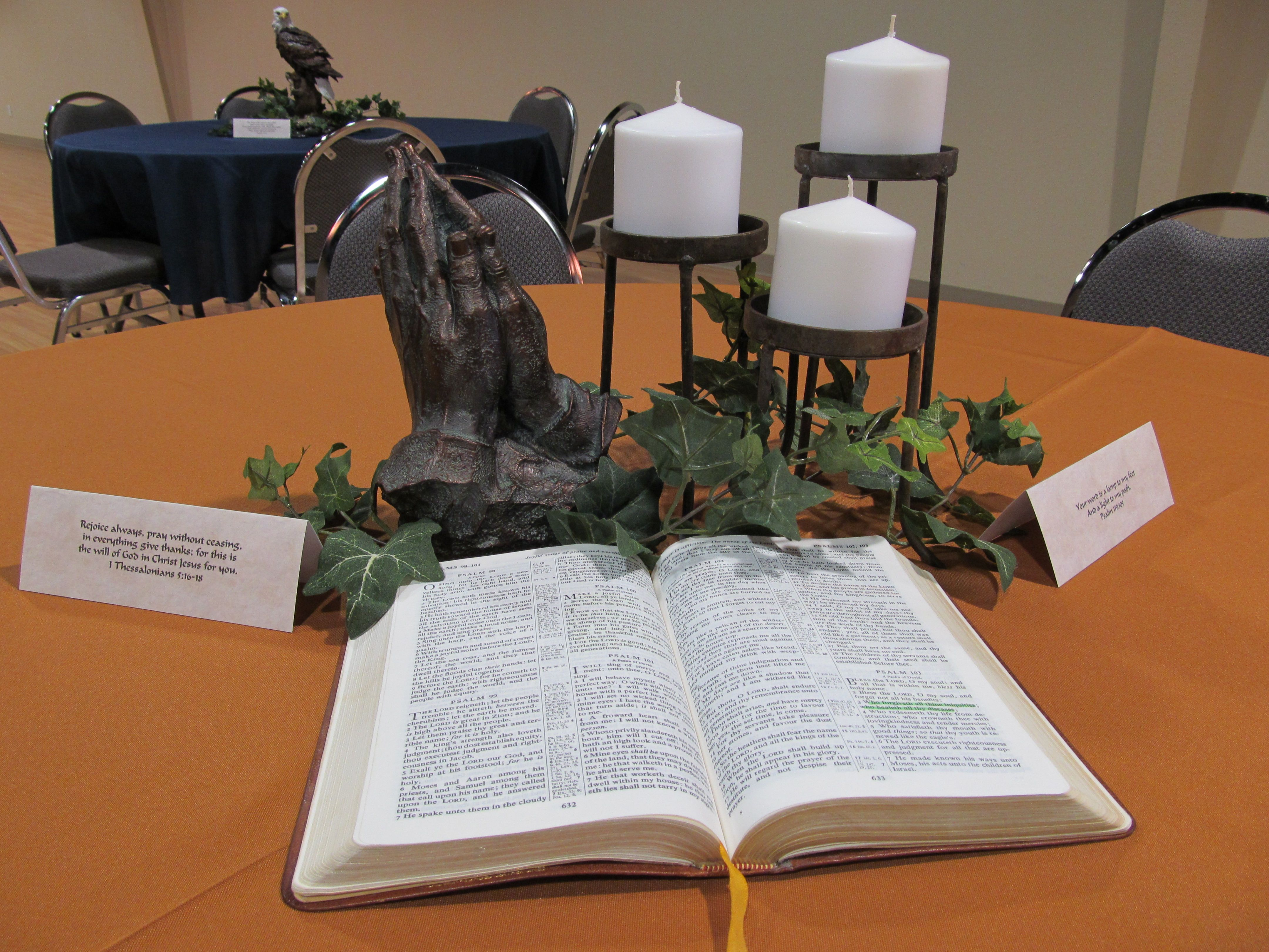 Light of my path centerpiece bible themed birthday party