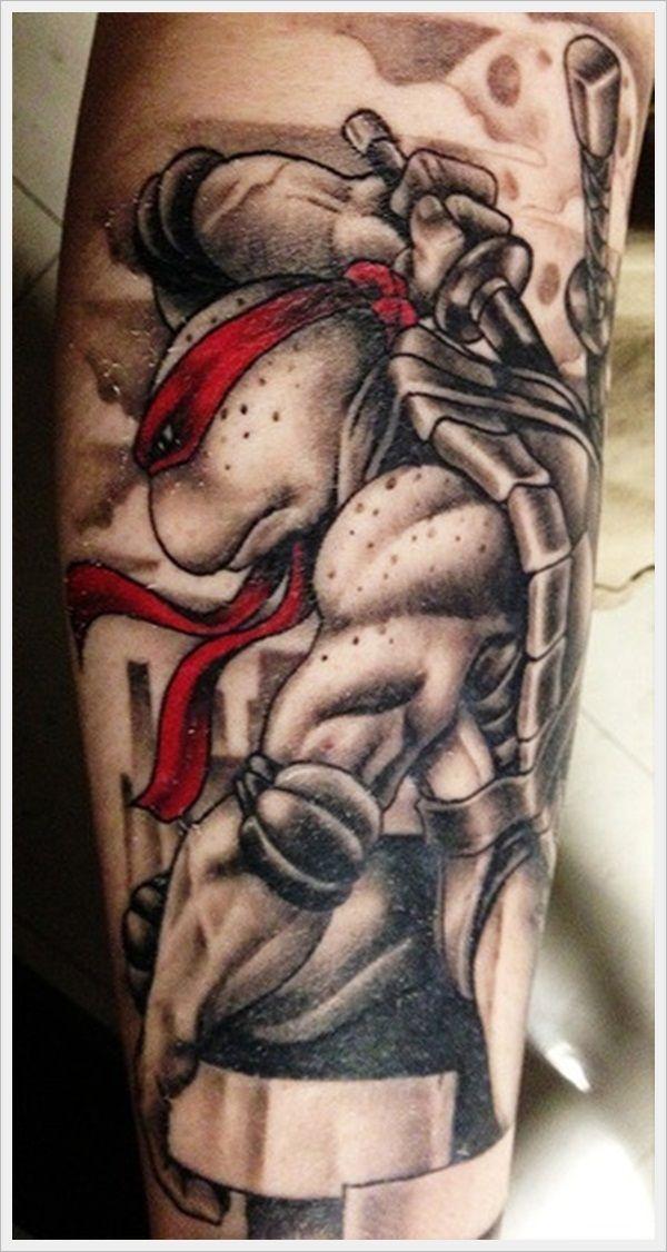 Ninja turtle tattoos on pinterest green lantern tattoo for Ninja turtles tattoo