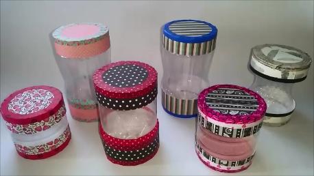 Anikó Dóbiász: Recycled plastic bottles
