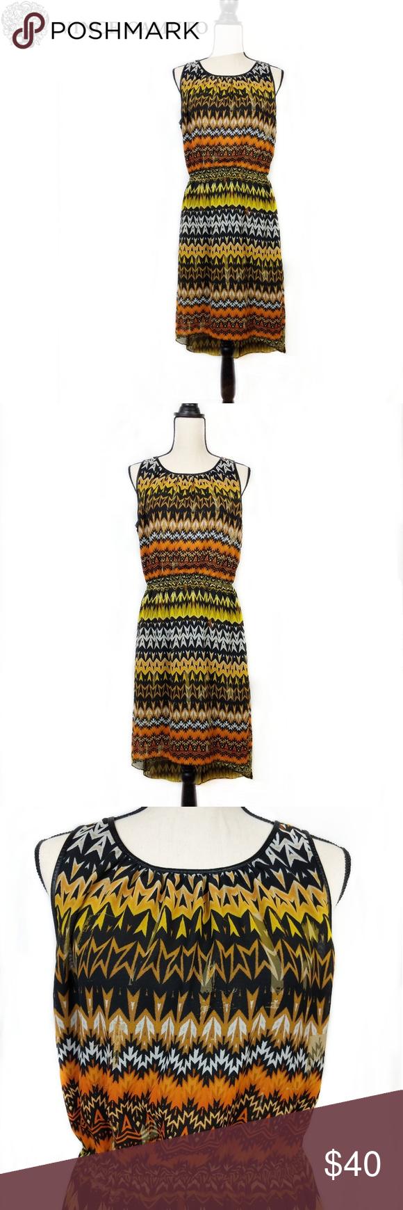 Vince Camuto Tribal Geometric Print Hi Low Dress M Vince Camuto Size M Scoop Neck Dress Sleeveless Geometri Hi Low Dresses Tribal Geometric Scoop Neck Dress [ 1740 x 580 Pixel ]