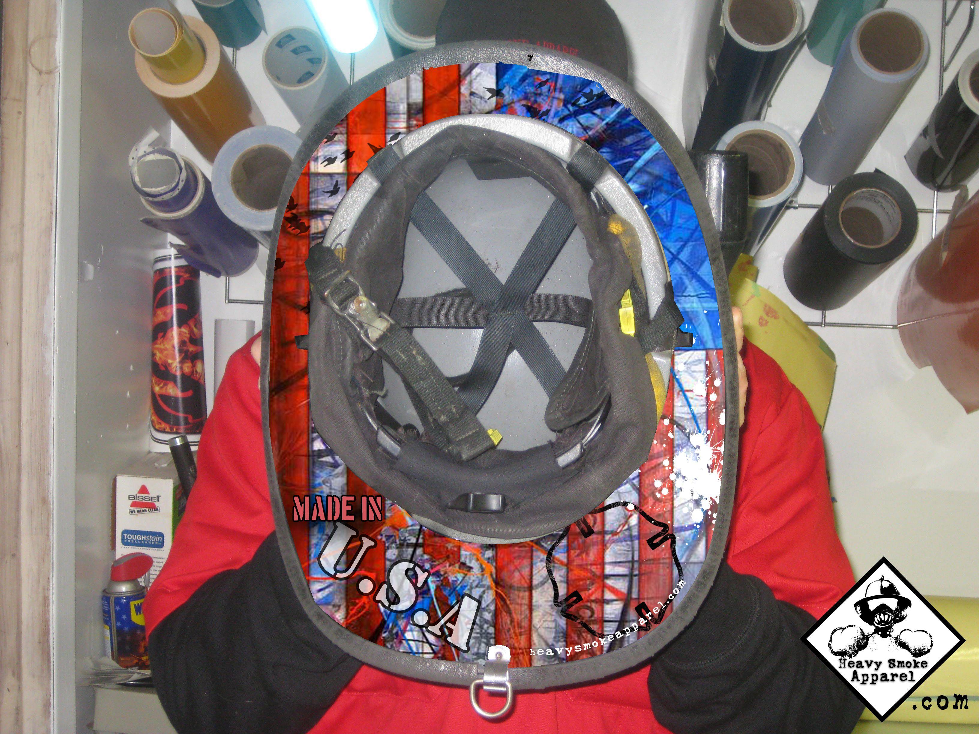 Under Helmet Decal Firefighter Decor Pinterest Firefighter - Fire helmet decals