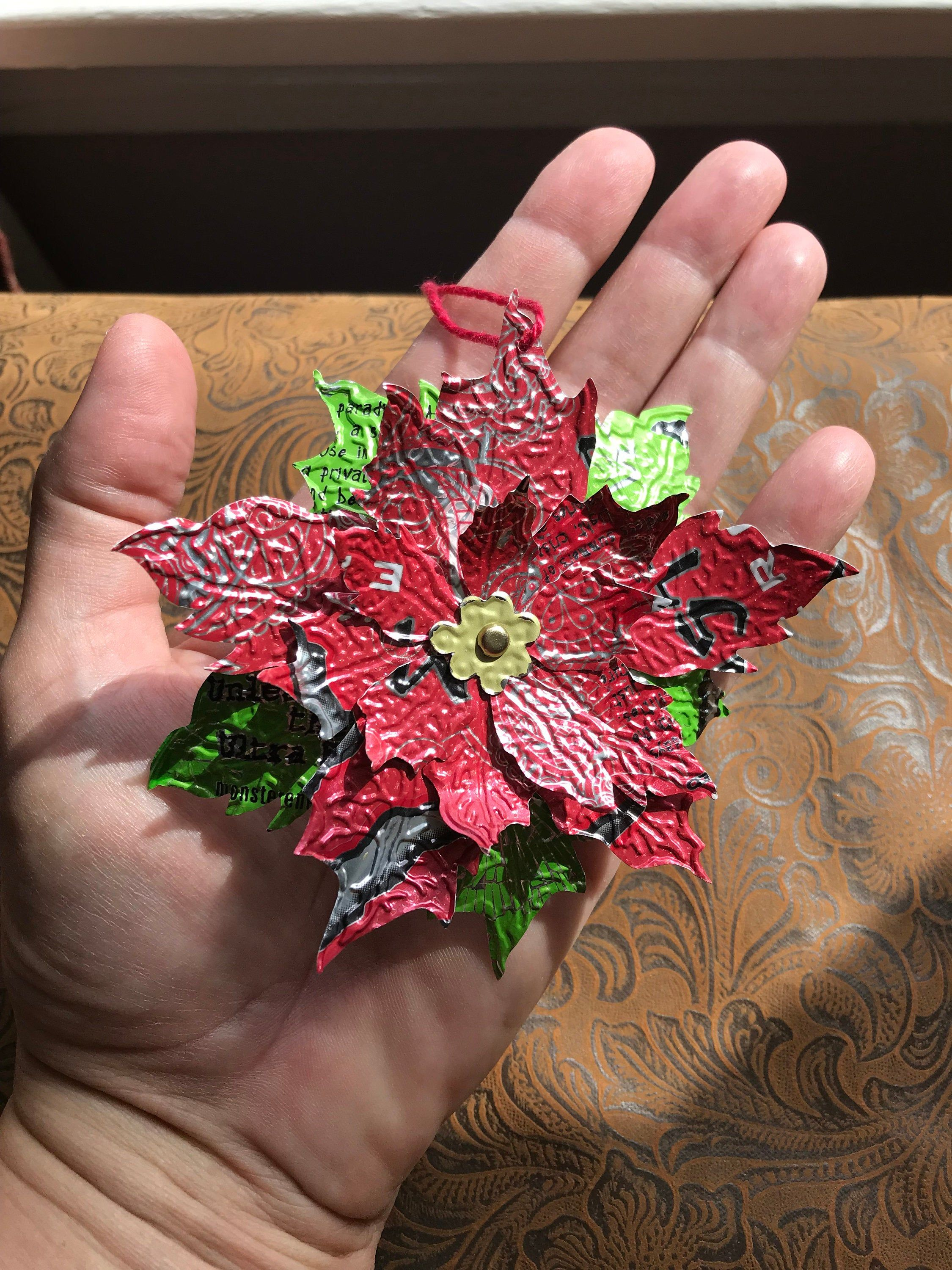 Your Place To Buy And Sell All Things Handmade Poinsettia Flower Soda Can Flowers Flower Ornaments