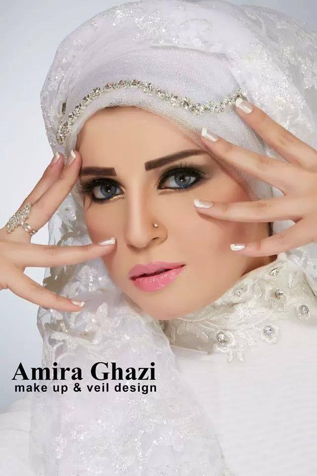 أجمل لفات طرح زفاف لأميرة غازي مجلة زنوبيا