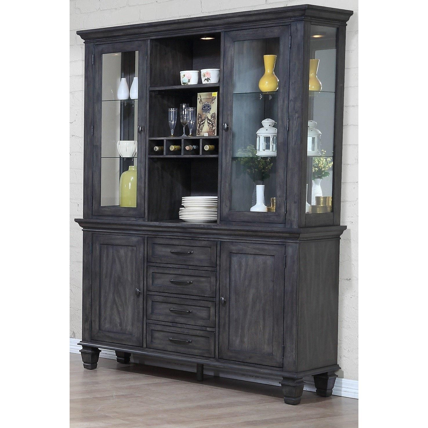 Sunset Trading Shades of Gray China Cabinet