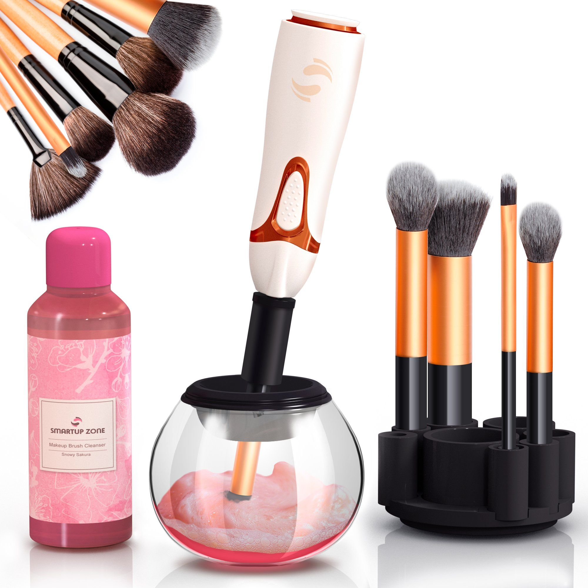 Professional Makeup Brush Cleaner Automatic Spin Makeup