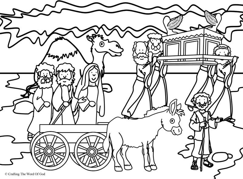Crossing The Jordan Coloring Page Bible Story Crafts Coloring