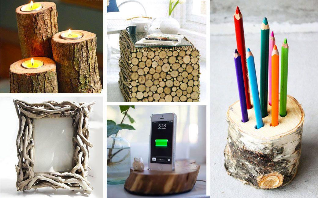 Arredare la casa con tronchi e rami 26 idee di for Progetti per la casa