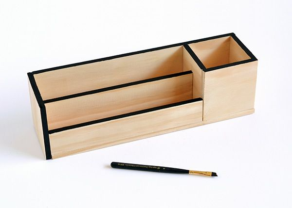 Make It Minimal Wood Desk Organizer Desk Organization Diy Diy Wood Desk Wooden Desk Organizer