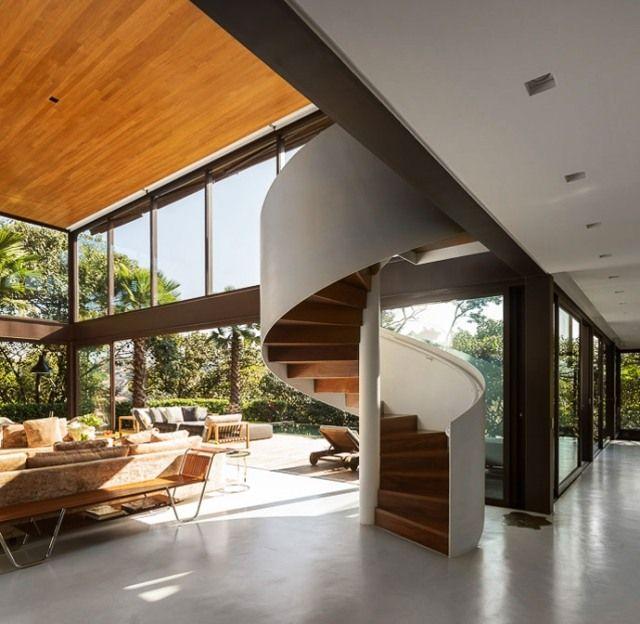 Moderne luxusvilla innen  Luxus-Villa Treppen-design Spindeltreppe-Fernanda Marques | Luxus ...