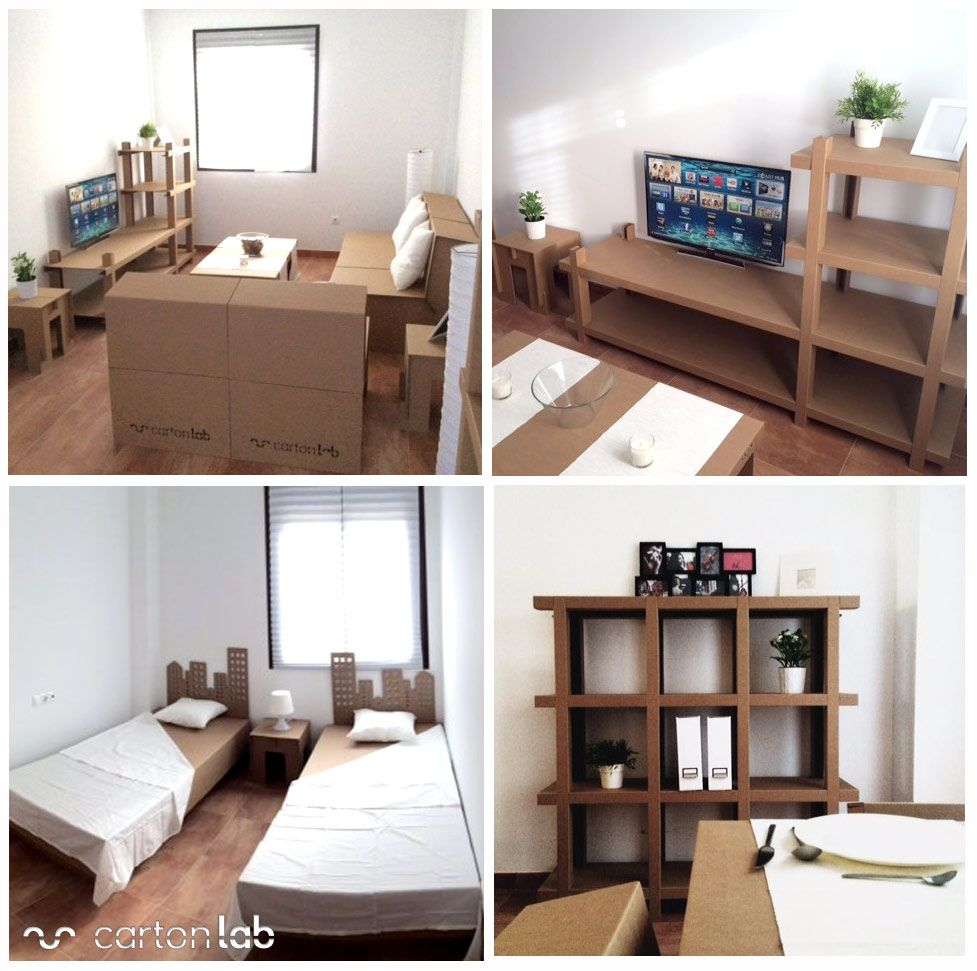 Home Staging Muebles De Carton Cardboard Furniture Cardboard  # Muebles New Challenge