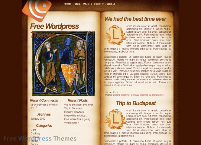Medieval Book Free WordPress Theme are distrebusted for free, now we ...