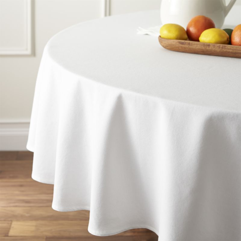 Abode White 90 Round Tablecloth 90 Round Tablecloths Round Tablecloth White Round Tablecloths