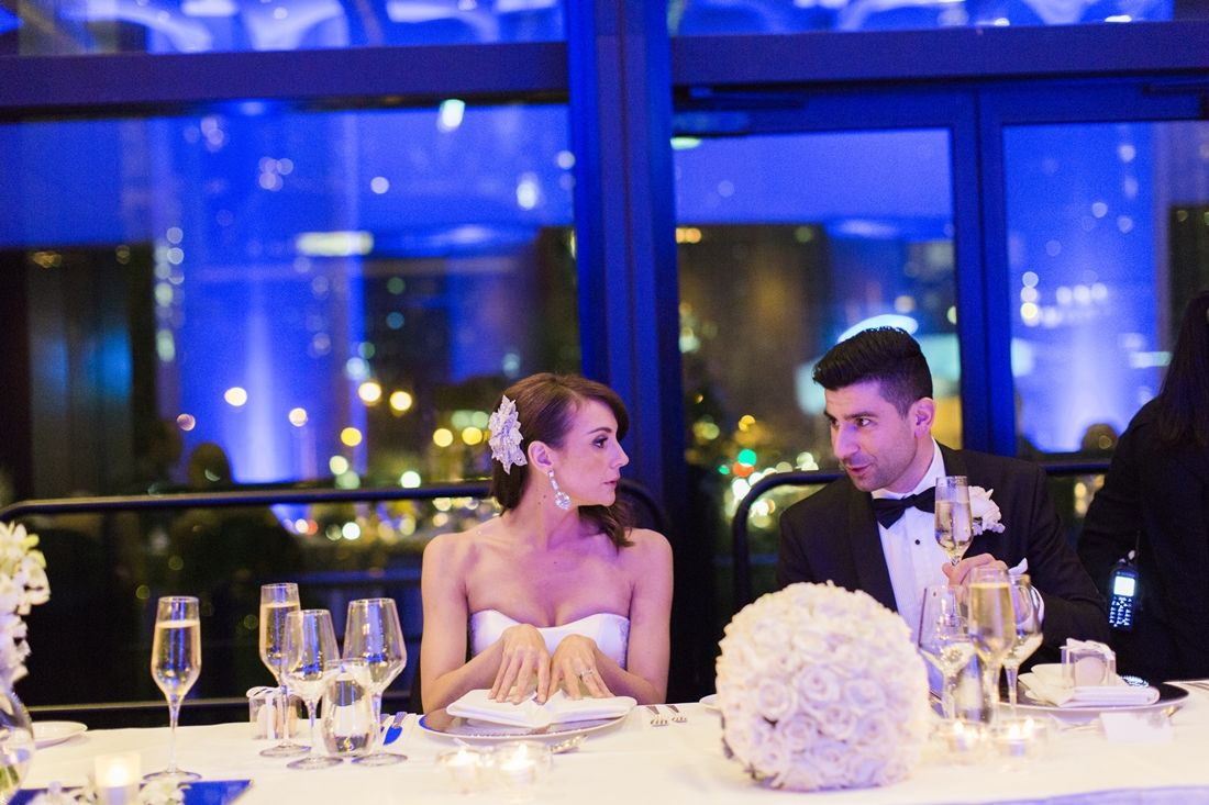 Elegant Wedding reception for A Big Fat Greek Winter Wedding | I take you
