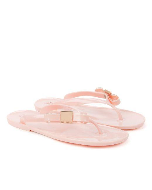 6796a568e Ted Baker Side bow flip flop - Light Pink £35