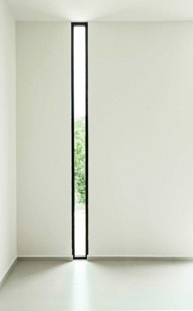 Fenêtre Bandeau Verticale De Maison Moderne