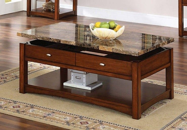 Beau Coffee Table With Lift Granite Top
