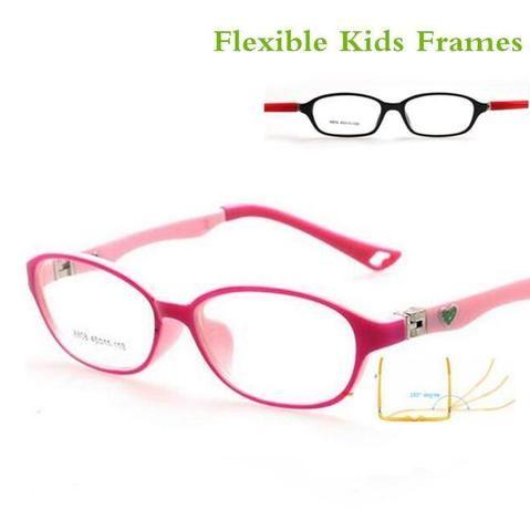 20953ce90b2 180 Spring TR90 Optical Eyeglasses Kids Frames Rubber Flexible Glasses Girls  Boysmodlilj