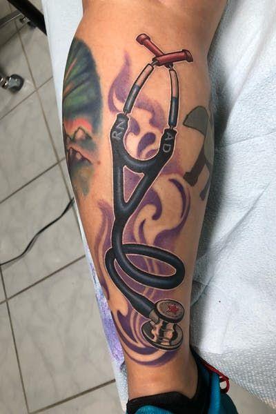 Tatouage stéthoscope - #tatoo #art #tatouage #stethoscope #heart #nurse #urgence #infirmiere # ...