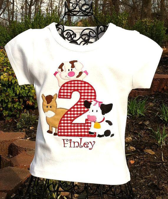 Birthday Girl Shirt 2nd Boys First Shirts Daughter Farm