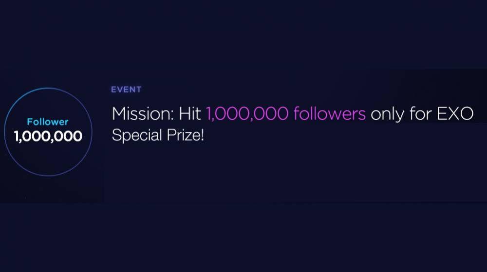 Help exo reach 1 million followers for an exclusive
