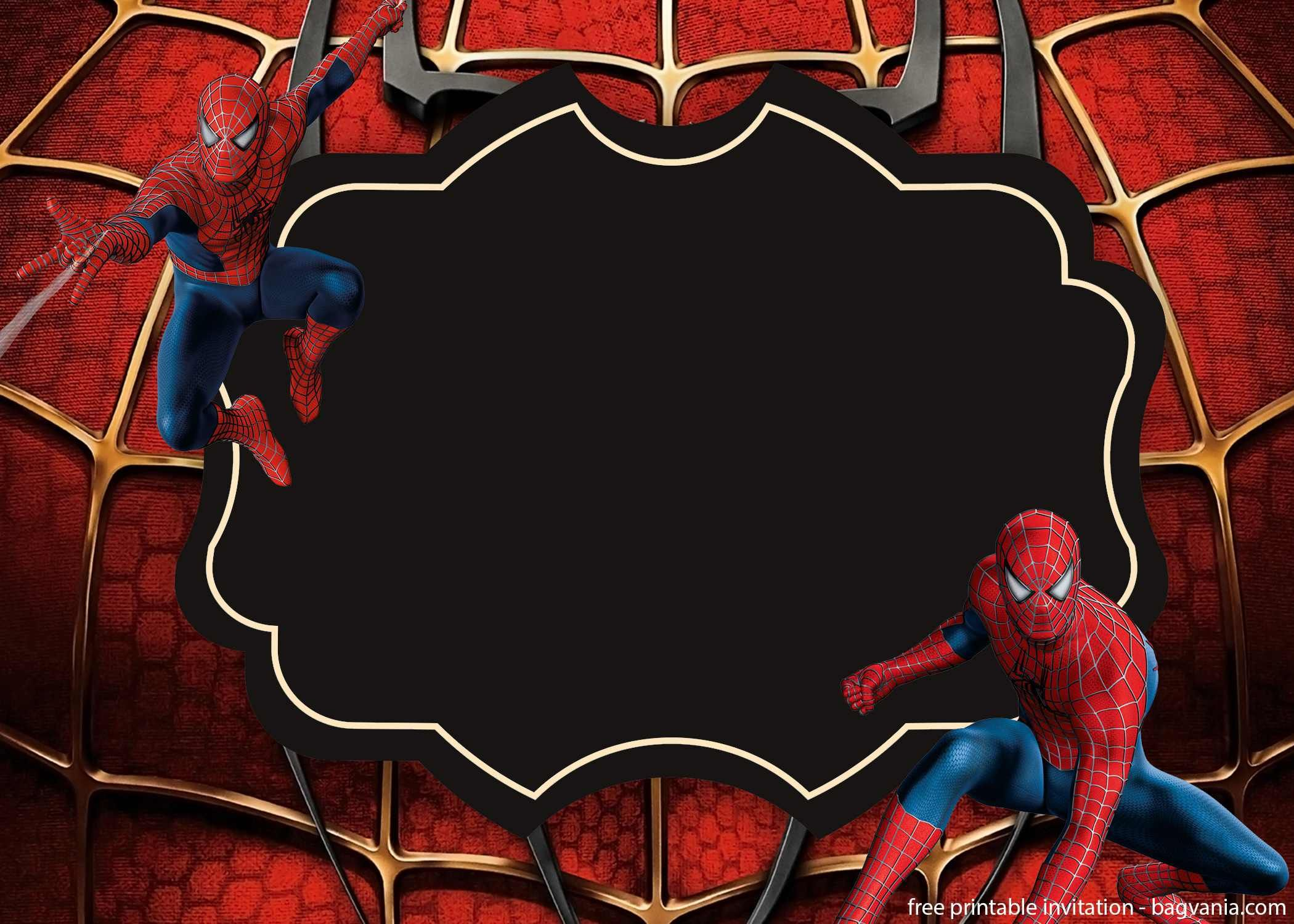 Make Your Boys Happy With Spiderman Invitations Templates