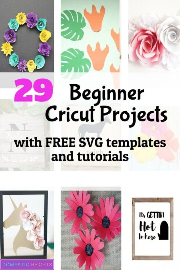 Download 29 Cricut Projects for Beginners with Free SVG Templates ...