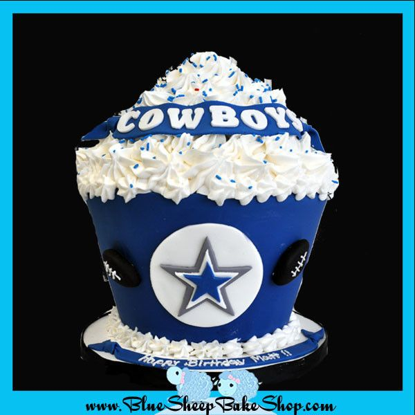 Dallas Cowboys Giant Cupcake Cake Dallas Cowboys We