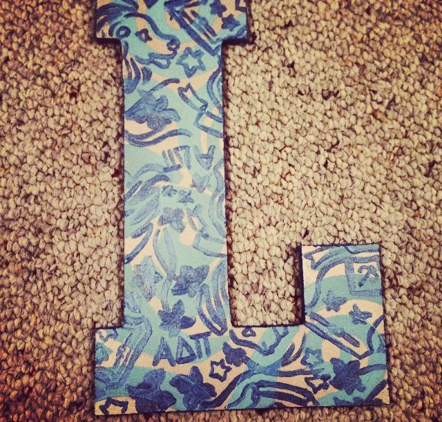 Lilly Pulitzer DIY ADPI Letter (Purchase any sorority print w - letter to purchase