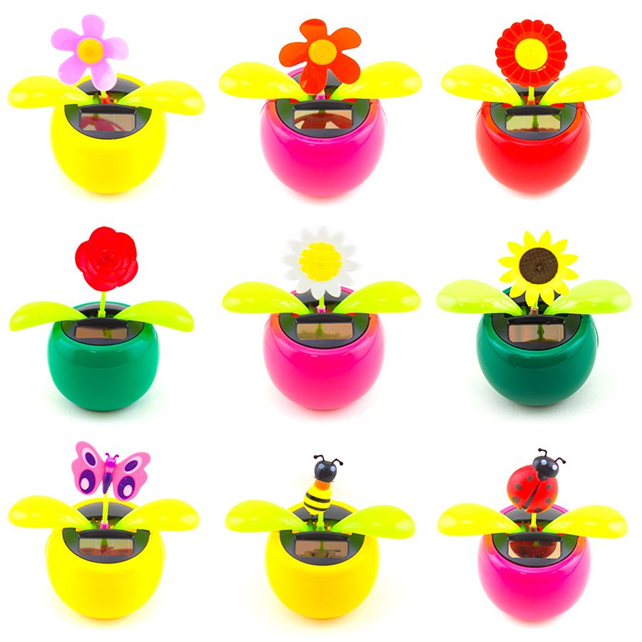 edb1e819183767 Solar Power Dancing Flip Flap Sunflower Flower Daisy Rose Bobble ...