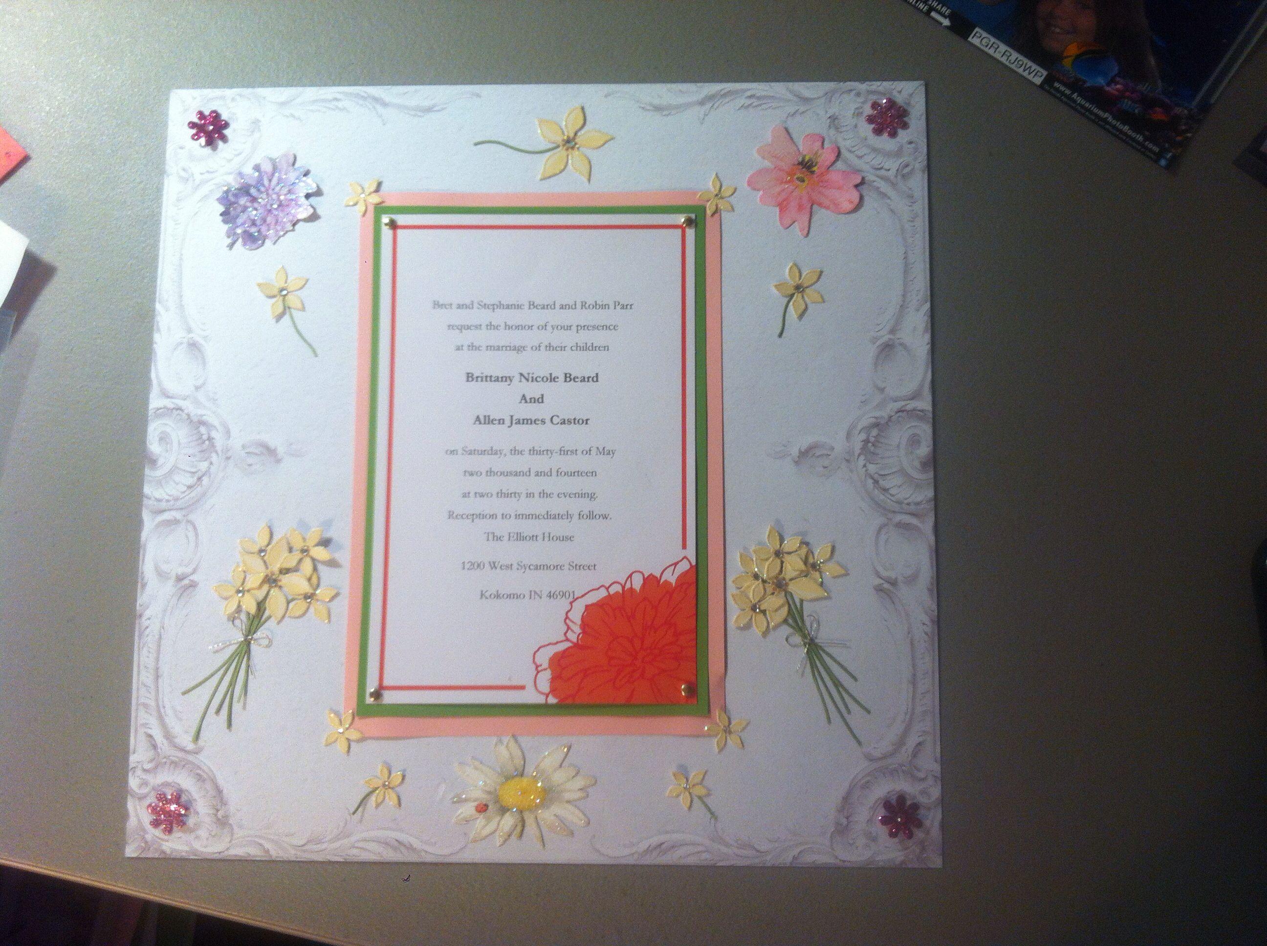 Wedding invitation/ scrapbooking | Scrapbooking | Pinterest ...