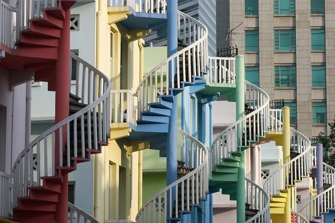 Best Colorful Street In Bugis Area Singapore Stairs Spiral 400 x 300