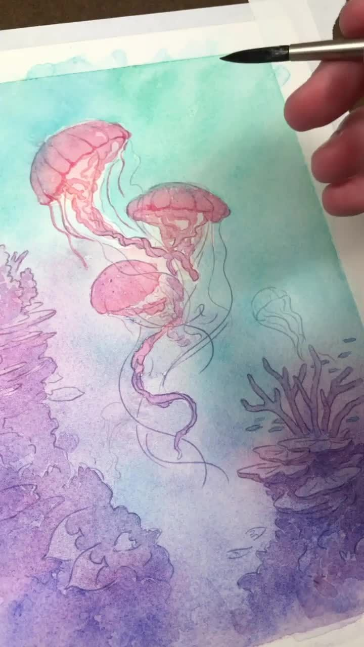 Preview of my upcoming EDO - I'm long overdue for more ocean-inspired artwork! Having grown up on the islands I've always loved to see the worlds beneath the waves. Colorful corals with hundreds of fish calling them home. Drifting towards the deep expanse of the sea, however, has always felt even more mysterious in its own way. What is your favorite way to explore this magical environment - snorkeling or scuba diving? Or perhaps the aquarium?