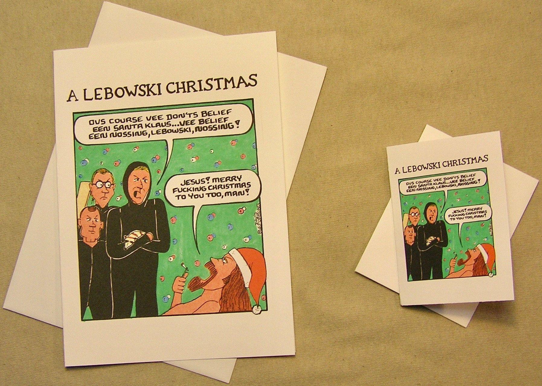 Big Lebowski Christmas Card. Nihilst\'s visit the Dude. Regular size ...