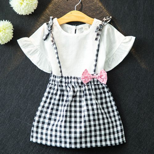 Click To Buy Kids Girls Short Sleeved Suit New Summer