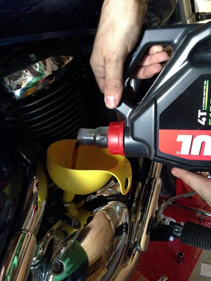 How to do an oil change on a motorcycle  Suzuki Boulevard M50