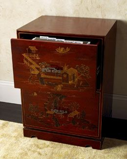 H40ts Chinoiserie File Cabinet 360