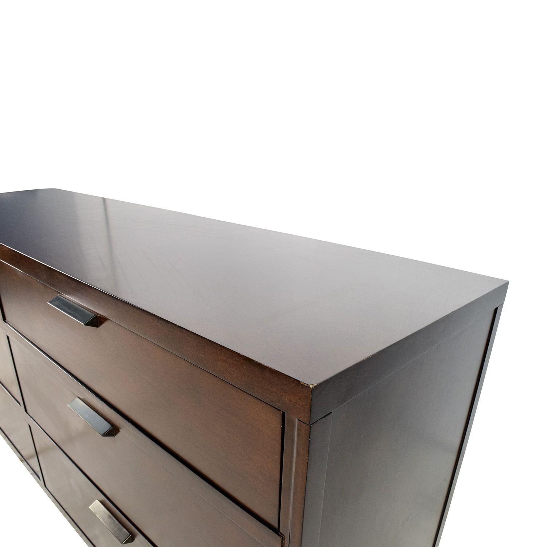 Crate and Barrel Crate & Barrel Asher 6-Drawer Dresser nj | 2377 ...