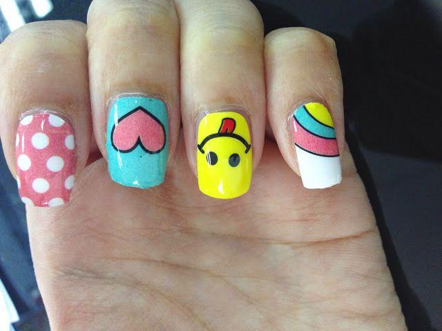 Emoji Nail Art Nail Wrap MDS1005 | chichicho~ nail art addicts | Re ...