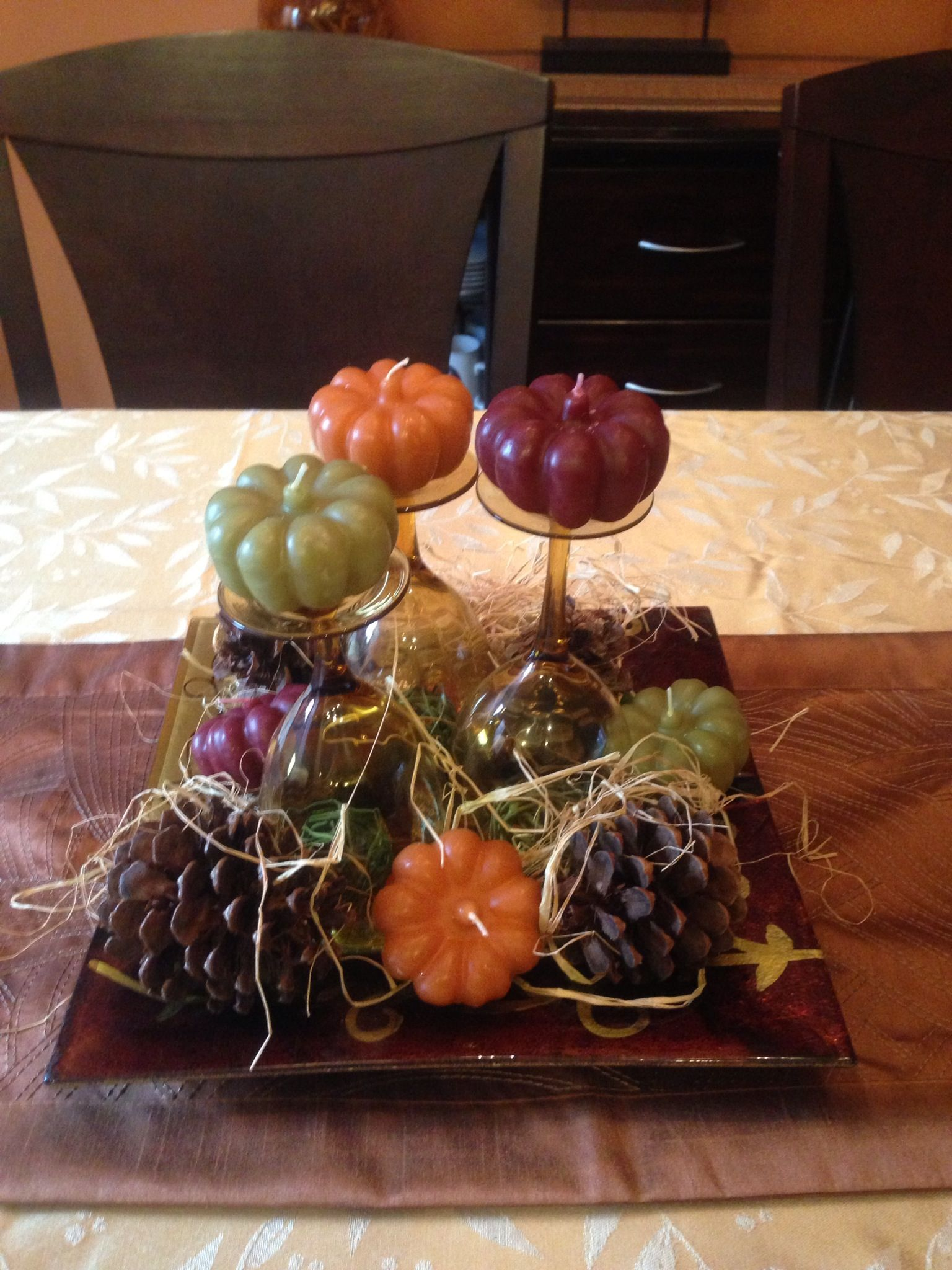 homemade thanksgiving centerpiece holidays pinterest