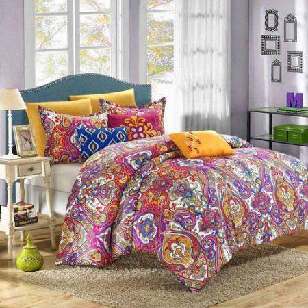 Paisley Global Inspi 12 Piece Bombay Reversible Comforter